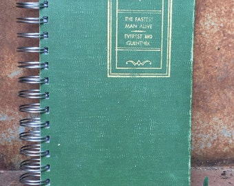 Vintage Book Journal, The Fastest Man Alive