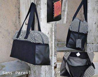 Weekend bag MOP jacquard