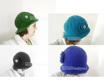 Tutorial  Knitting Hat, Woman Hat Pattern, DIY Knitting Hat, Knit Bonnet Pattern, Hat Beanie Beret, Instant Download PDF, Hat Pattern