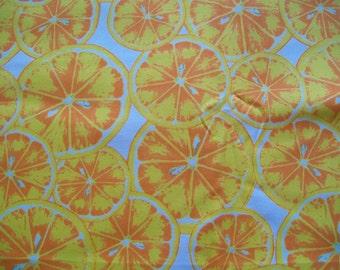 Fabric Destash - Bright Citrus Fruit - LARGER REMNANT