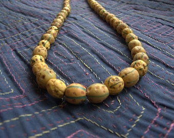 Yellow Ethiopian Skunk Beads - Antique Trade Beads
