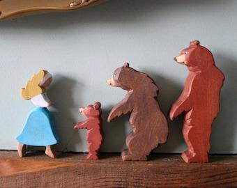 Three Bears Wooden Storytelling Figures