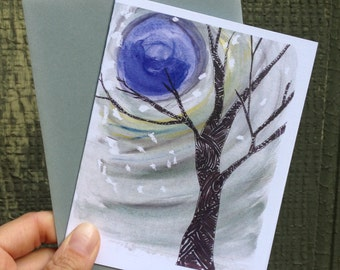 Moonlit Tree Card
