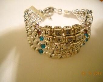 5  strands Mother's bracelets