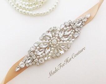 Wedding belt, wedding dress sash, bridal belt/sash, wedding sash champagne, wedding belt Champagne, sash for wedding, belts for wedding