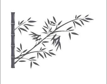 Stickers bamboo wall for decoration feng shui and zen to your home