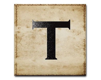 Letter T for monograms and initials