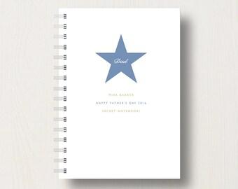 Personalised Star Dad's or Grandad's Journal