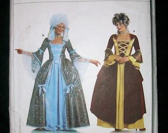 Burda Pattern 2447 Rococo Dress Pattern 18th Century Marie Antoinette 1700s PLUS 26/52