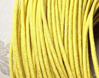 2 mm Yellow Color Cotton Cord (.sah)