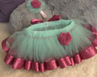 Mint and Rose infant tutu