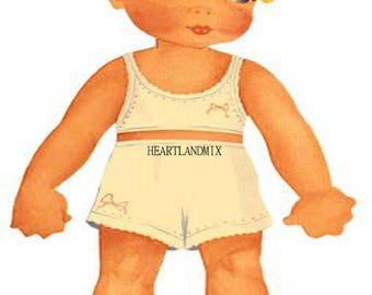 Vintage Paper Doll Download Printable Clip Art
