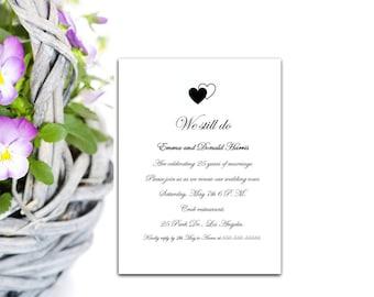 Anniversary party Invitation, Anniversary Template, Printable invitation, Instant download