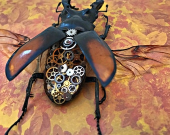 Steampunk Clockwork Stag Beetle