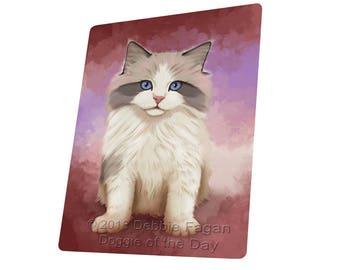 Ragdoll Cat Art Portrait Print Throw Blanket