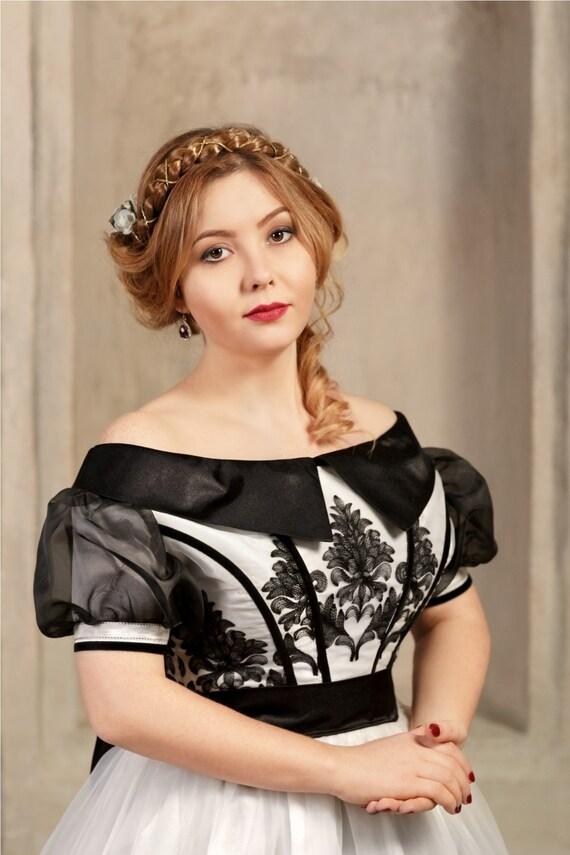 Damen historisches Kostüm Dame in weiß Civil War