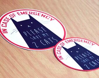 Pet Emergency stickers customized designs