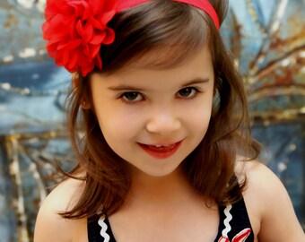 Red baby headband, elastic headband, infant headband, newborn headband, photo prop, baby gift, baby girl, simple headband, baby headband