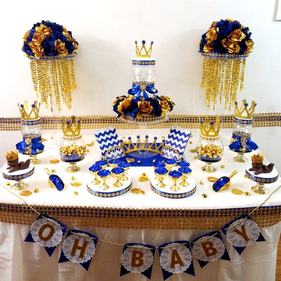 Royal Prince Baby Shower Candy Buffet Centerpiece / Oh Baby