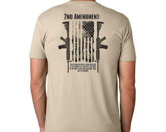 Dead Or Alive Clothing 2nd Amendment Cotton Crew Short Sleeve Shirt