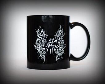 Black metal Coffee mug Nu goth Coffee snob Caffeine Mugs with sayings Gifts for metalheads Band logo Darkthrone Mayhem Lowbrow Metalhead