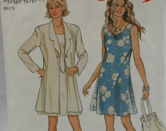 Simplicity  New Look 6355 Misses' Dress and Jacket Sewing Pattern Size 6, 8, 10, 12