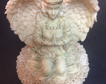 Nice Angel Ceramic And Cork Candle Topper