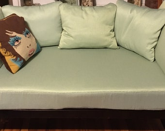 NEW PRICE: Loveseat cushions / covers