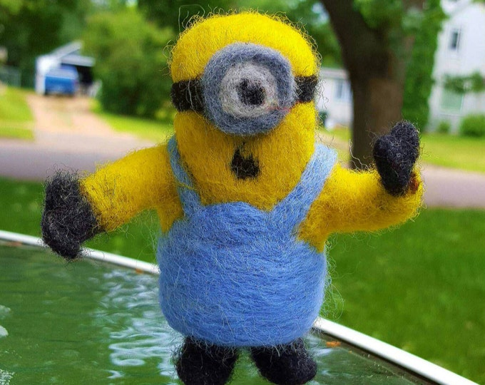 Needle Felted Minion Doll