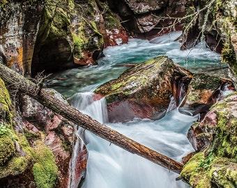 AVALANCHE CREEK GLACIER national park montana water mountains nature