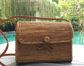 Rattan Bag, Bali Bag, Rattan Bali Bag, Ata Bag, Ata Woven Bag, Straw Bag, Rattan Purses, Summer Bag
