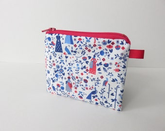 Liberty Lawn zippered coin purse