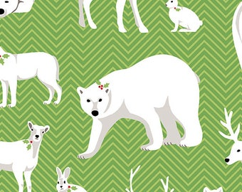 Contempo - Nordic Holiday - Animals - 1881-44 - Fabric by the Yard