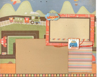 One of the Best Things to be is a Boy 2 page scrapbooking layout kit
