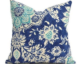 Pillow Covers ANY SIZE Decorative Pillow Cover Blue Pillow Magnolia Home Belmont Harbor