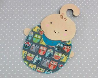 Owl handmade baby bib