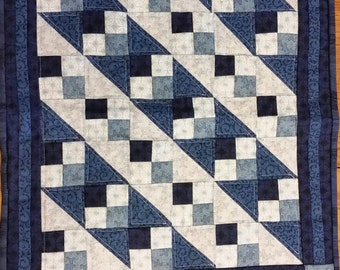 Blue  and Navy mini quilt