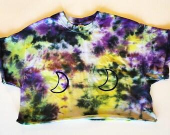Tie-dye Moon crop top