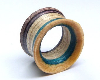 Recycled Skateboards, Single Tunnel, Plugs and Tunnels, Ear Gauge, Wooden Plug, Wood Tunnel, Wooden Plugs, Wood Tunnels, Gauges, Ear Plugs
