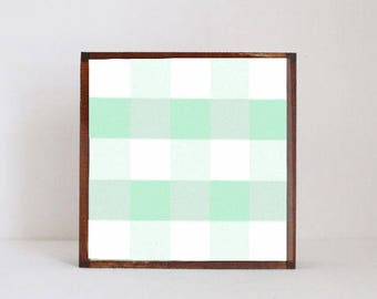 geometric nursery art, gingham art blocks, rustic, farm, nursery, cottage decor, nursery decor, print, childrens room decor, redtilestudio