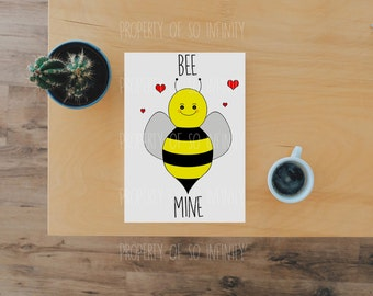 Bee Mine Valentines Day Card