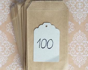Kraft small bags (100)