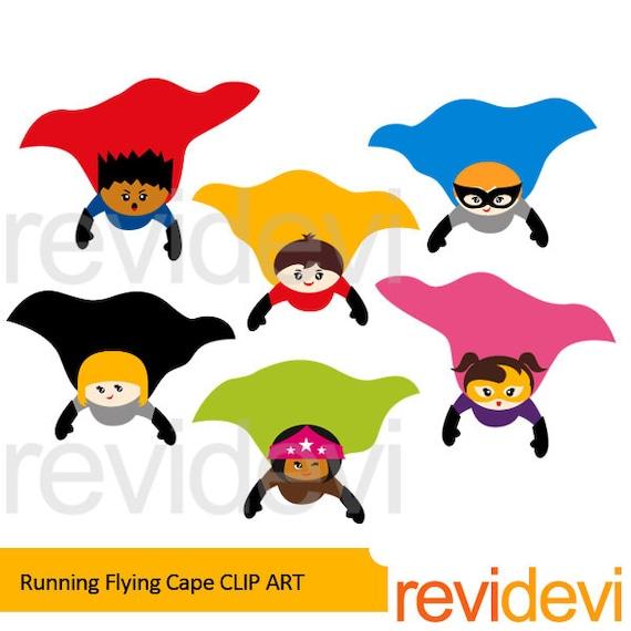 superhero clipart sale superhero flying cape clip art commercial rh etsystudio com superhero clipart free superhero clipart black and white