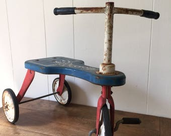 Vintage Tricycle, Vintage Child's Tricycle, Vintage Scooter, Giraffe Tricycle, Tricycle, Scooter