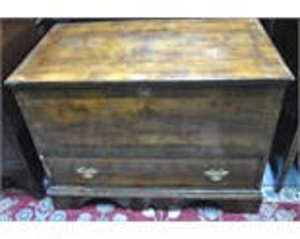 18th Century Fruitwood Mule Trunk