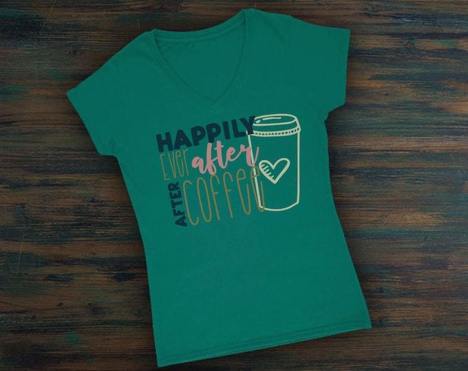Happily Ever After After Coffee Svg, Svg FIle, Bride Shirt Svg, Fiance Shirt Svg, Wedding Day Shirt Svg, Wedding Svg, Bridesmaid Svg, Cricut