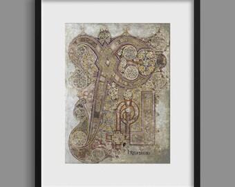 Chi Rho - Book of Kells - 9th Century