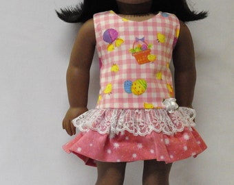Easter dress fits 18 inch dolls