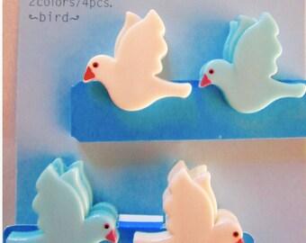 4 mini clips BIRDS - Midori