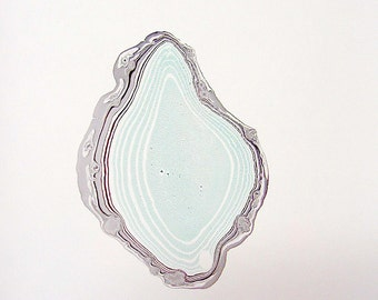"Agate Slice- Original Hand Marbled Paper, Marbling Art , The Original ""Marbled Graphics""TM by Robert Wu"